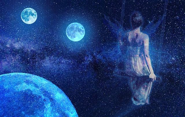 www.maxpixel.net Blue Cosmos Fantasy Fairy Fiction Moon Space 3547044
