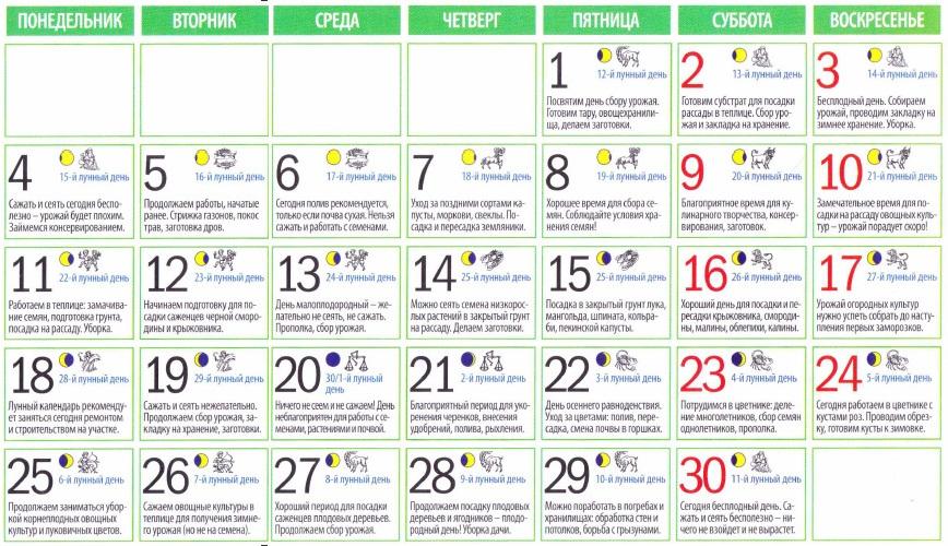 Лунный календарь на сентябрь 2017 года для стрижки волос