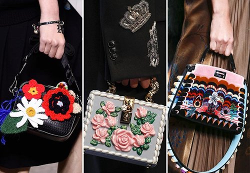 fall winter 2016 2017 handbag trends printed embellished bags