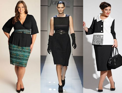 Модные платья для полных осень-зима 2015-2016