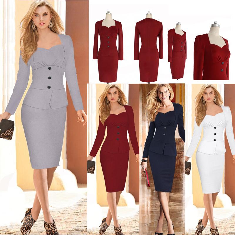Офисные платья и костюмы 2017