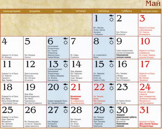 13 января в православном календаре