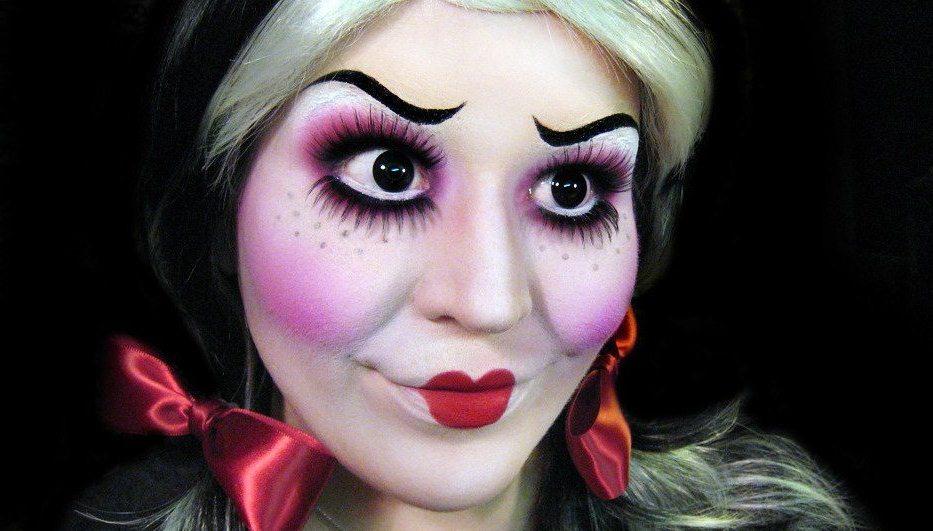 Макияж кукла на хэллоуин