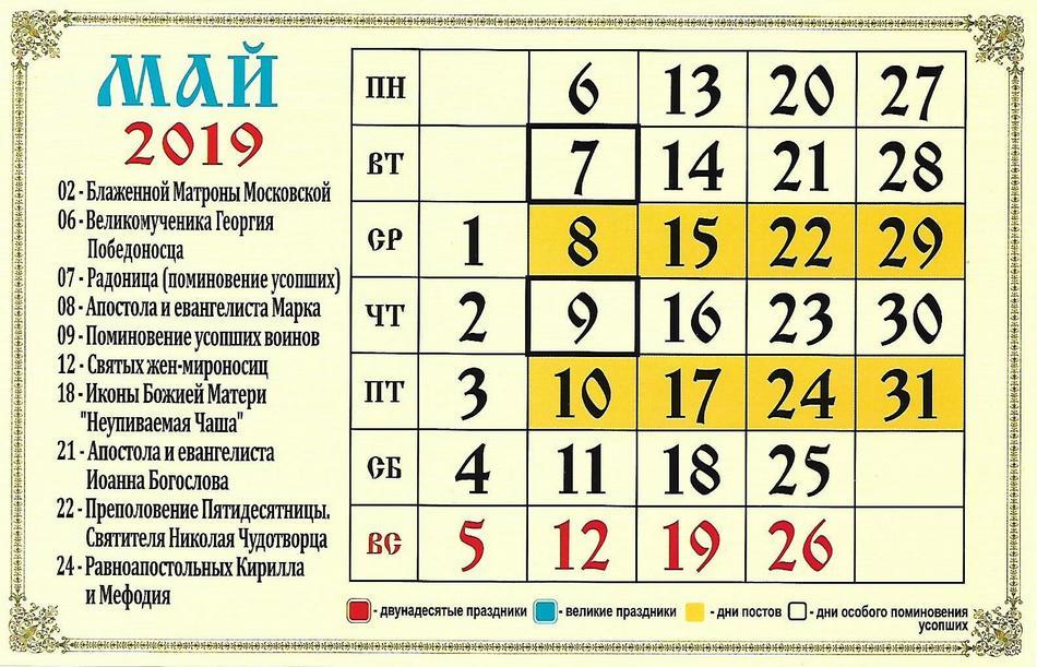 Церковные праздники в июле 2019 года календарь рекомендации